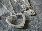 SMALL HEART PENDANT WITH 925 STIRLING SILVER NECKLACE BIRTHDAY GIFT IDEA WN004