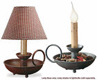 "Chamberstick Lamp by Park Designs, 6.5"" H., Iron, Choice of Red or Black, 1 or 2"
