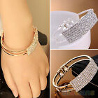 Women Striking Bangle Wristband Bracelet Crystal Cuff Bling Jewelry Nice Gift