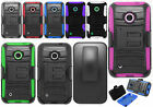 For Nokia Lumia 530 Hybrid Combo Holster KICKSTAND Rubber Case Phone Cover