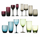 Set Of 4 Contemporary Red Wine Champagne Hi-Ball Tumbler Drinks Goblets Glasses