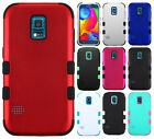 For Samsung Galaxy S5 Sport IMPACT TUFF HYBRID Case Skin Cover + Screen Guard