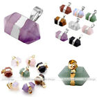 1pc Womens Mens Hexagon Pendulum Crystal Gemstones Reiki Healing Chakra Pendant