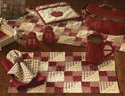Apple Jack Placemats & Napkins by Park Designs, Choice of Sets, Quilted Style