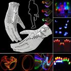 Finger Mitts Lights Glow Flashing Gloves LED Rave 1/5 Pair Magic 7 Mode N4U8