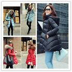 Winter Raccoon Fur Collar Hooded Jacket Down Coats For Womens New 3 Colours - CB