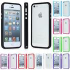 TPU Hard Gel Silicone Bumper RIM Case Cover For iPhone 5 5S - Choose Colour