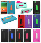 T-Mobile ZTE ZMAX Z970 IMPACT Hard Rubber Case Phone Cover Kickstand Accessory