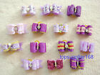 PURPLE handmade Dog bows pet Grooming hair bow Pet charms mix Accessories gift