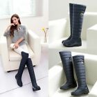 Winter New Women's Thicken Warm Over The Knee High Snow Boots 2 Color All Size