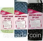 Zippered CASE Susan Bates Sueded Microfiber Pick Type (Crochet or Knit) & Color