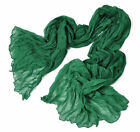 Free Shipping Fashion Women's Long Scarf Wraps Shawl Stole Soft Scarves Emerald