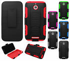 For HTC Desire 510 COMBO Belt Clip Holster Case Phone Cover Kick Stand Accessory