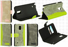 For Samsung Galaxy Note 4 Premium Denim Wallet Case Pouch Flap STAND Cover