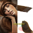 Clip In Real Human Hair Clip In Extensions #2 Dark Brown 70g&100g Promotions