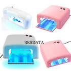 BESDATA 36W UV Lamp Gel Polish Curing Nail Art Shellac Dryer With Timer & 4 Bulb