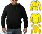Mens Motorcycle Hoodie Protective Lined with Knitted Dupont™ Kevlar® CE Armour