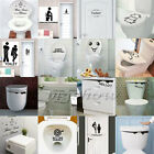 Toilet Seat Wall Sticker Decals Vinyl Art Wallpaper Removable Bathroom Decor DIY