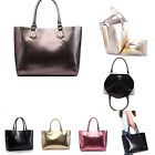 Ladies Metallic Designer Fashion Handbag With Free Make Up Bag Strap Women's Bag