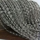 factory wholesale 5/10 meters new silver 5mm men stainless steel chains in bulk