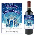 Personalised CHRISTMAS XMAS Wine Champagne Bottle Label N45 ~ Great Gift Idea