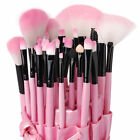 24/32 PCs Pro Famous brand Cosmetic Makeup Brush Set Kit with Pouch Bag Case