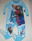 New Disney Frozen pajamas w/feet footed pajamas blanket sleeper girls XS-XL