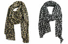 "Style & Co Women's Leopard Print Metallic 78"" Winter Scarf NWT - Pick Color"