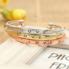 1X Fashion Love Fix Size Cuff Bracelet Bangle RDR Silver Gold Rose Gold Color