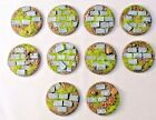 Paved 40mm scenic resin bases, Qty 5-25, unpainted sci-fi by Daemonscape