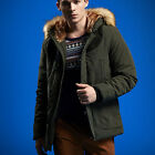 WY0019 Winter Mens Warm Jacket thick cotton padded fur collar Hooded Warm Tops