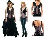 RENAISSANCE CLOTHES VICTORIAN STEAMPUNK WENCH PIRATE COSTUME SEXY FASHION CORSET