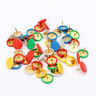 50 PCS Drawing Metal Push Pins Assorted Colorful Paper Headed Fixing Thumb Tacks