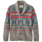WOOLRICH Men's Penna Fairisle Cardigan Sweater, Fatigue Heather