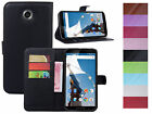 Litchi Luxury PU Leather Wallet-Style Flip Fitting Case For Motorola Nexus 6