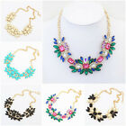 Charm Jewelry Pendant Crystal Choker Collar Chunky Statement Bib Necklace Chain