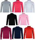 KIDS BOYS GIRLS POLO NECK JUMPER TOP ROLL NECK 2-11 YEARS BNWT