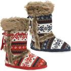 Ladies Slippers Boots New Womens Dunlop Ankle Winter Warm Fur Snow Booties Size