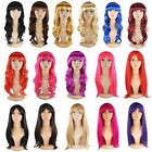 1Piece Full Head Full Wigs Fancy Dress Costume Party Long 11colors Lady Favor S1