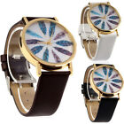 Womens Retro Feather Dial Leather Band Quartz Analog Wrist Watches Watch T11S