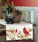 Cardinals Table Runner by Heritage Lace, Choice of Two Sizes, Christmas, Winter