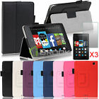For 2014 Amazon Kindle Fire HD 6 Folio Leather Smart Case Fit Cover+ Screen Film