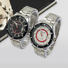 Classic Men Dual Ring Dial Stainless Steel Band Analog Date Quartz Wrist Watches