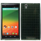 T-Mobile ZTE ZMAX TPU CANDY Gel Flexi Skin Case Phone Cover Plaid + Screen Guard