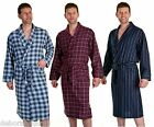 Mens Dressing Gown 100% Brushed Cotton Bathrobe HAIGMAN Dressing Gown Wrap S M L