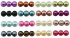 4mm 6mm 8mm 10mm GLASS PEARL BEADS TOP QUALITY AND COLOUR CHOICE
