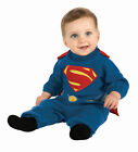 Superman Super Hero EZ On Romper Child Boys Toddler Infant Halloween Costume New