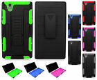 For T-Mobile ZTE ZMAX Z970 COMBO Belt Clip Holster Case Kickstand +Screen Guard
