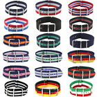 18/20/22mm Mens Nylon Military Army Watches Gift Straps Wristwatch Band Buckle