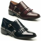 Womens Ladies Dolcis Casual Double Buckle Strap Office Work Formal Dress Shoes